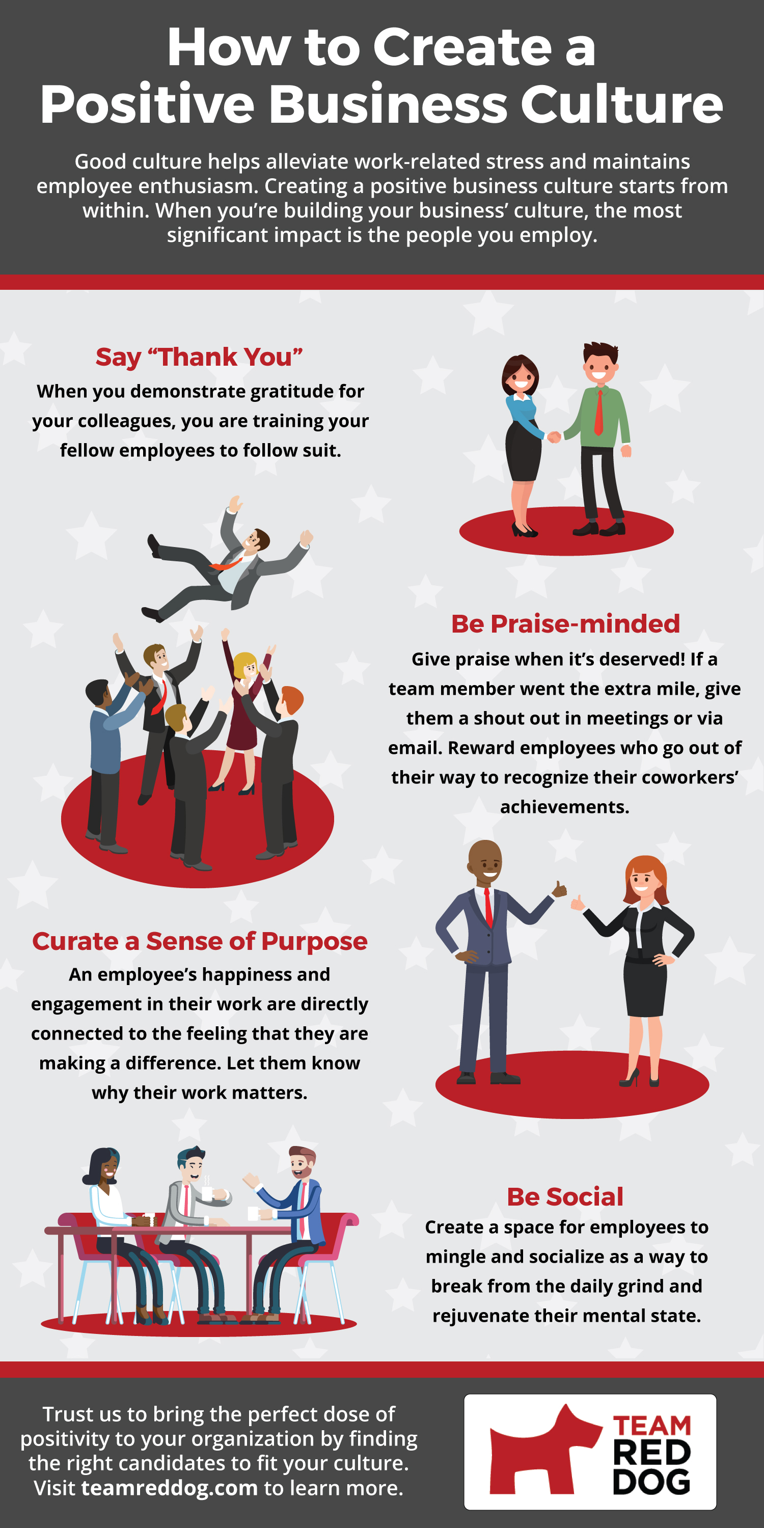 Infographic on creating a positive business culture
