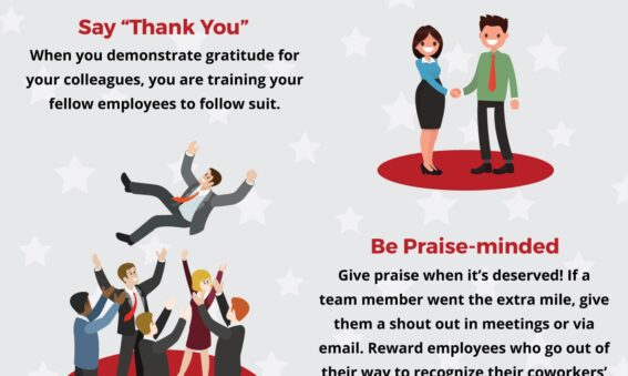 Creating a positive business culture infographic snippet