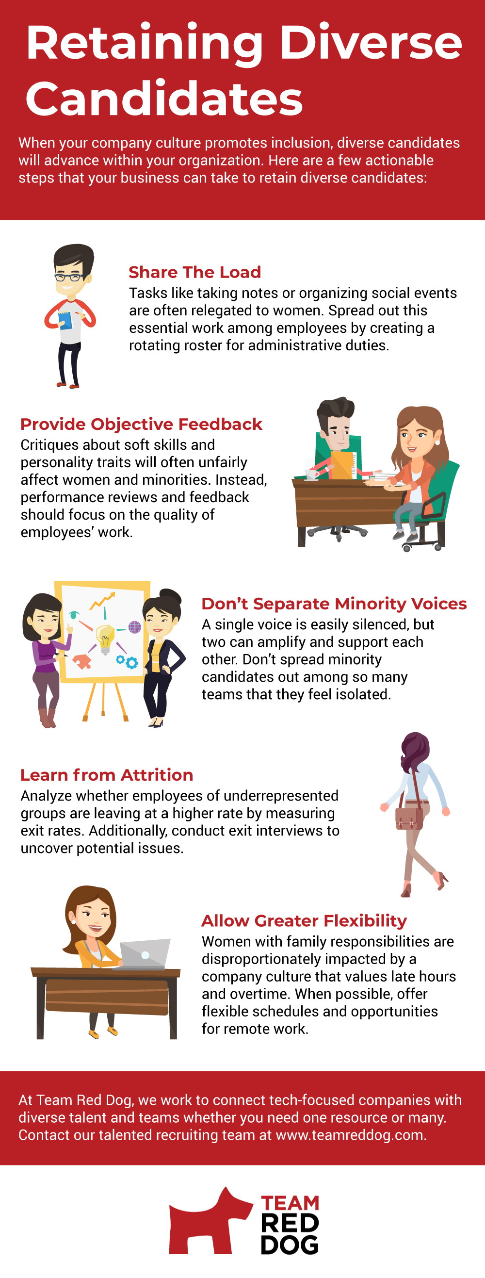 Actionable tips on retaining diverse hires