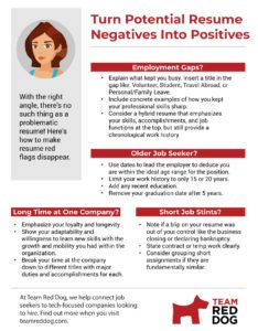 Infographic on transforming resume negatives