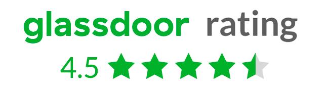 Glassdoor rating 4.5