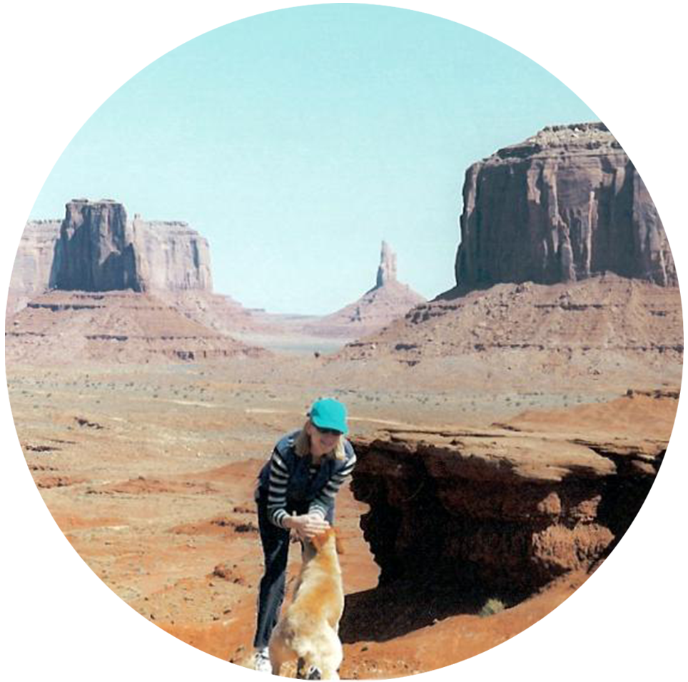Marleen in Monument Valley with Najooni