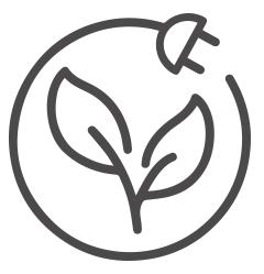 Zero emissions icon